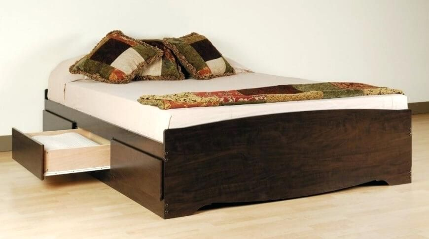 Luxury Queen Size Bed Frame With Storage Underneath Or 81 Queen