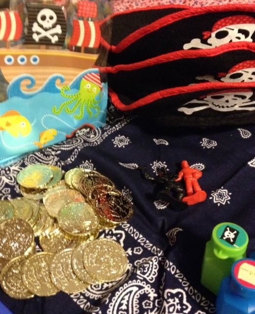 Pirate Party goody treat favor bag stuffers Jake and Neverland Pirates party