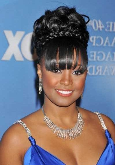 Good fancy bun hairstyles with bangs for long hair black women good fancy bun hairstyles with bangs for long hair black women pmusecretfo Images