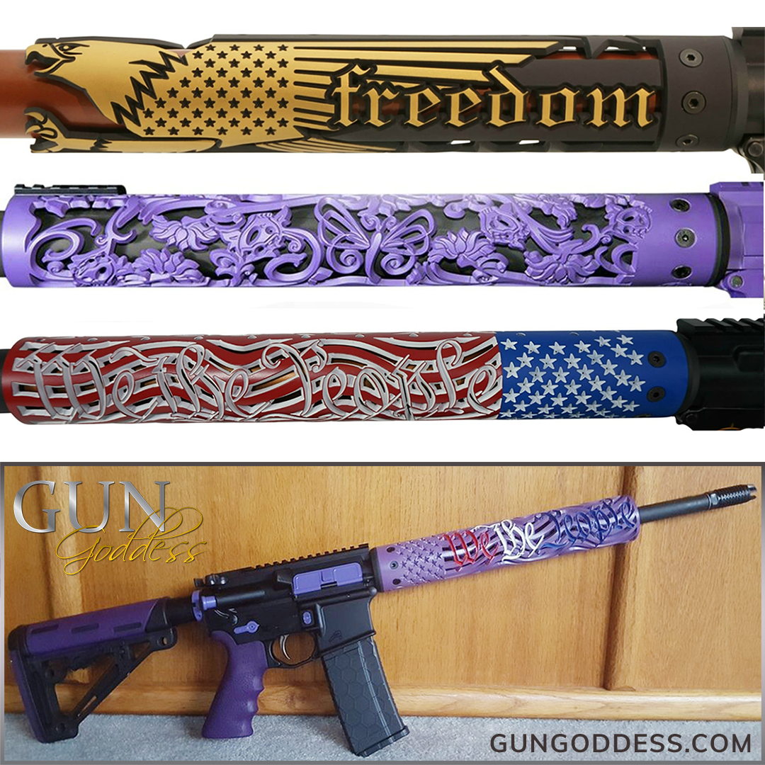 AR-15 Patterned Handguards Turn your AR into ART!