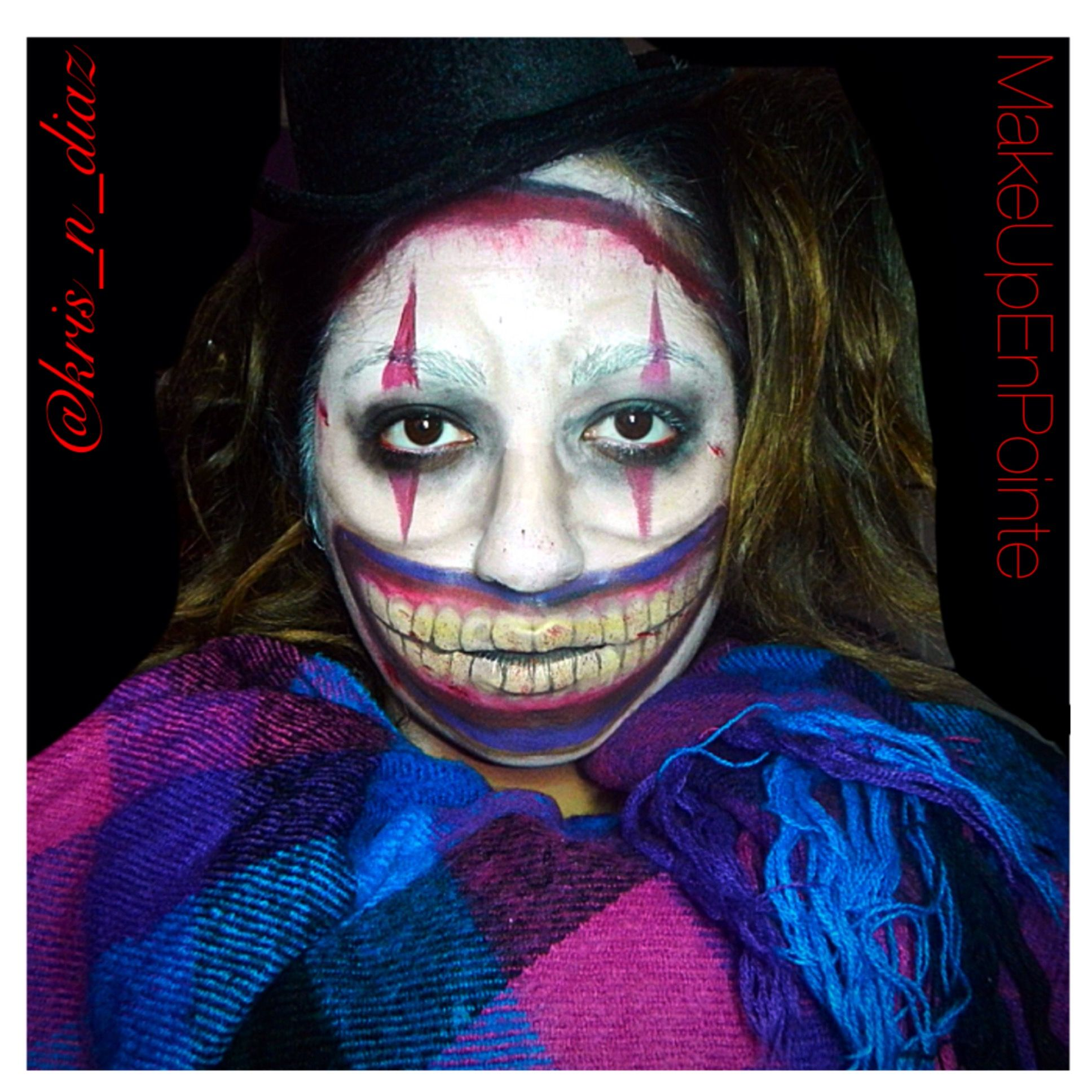 twisty the clown makeup from american horror story freak show here s the link to check