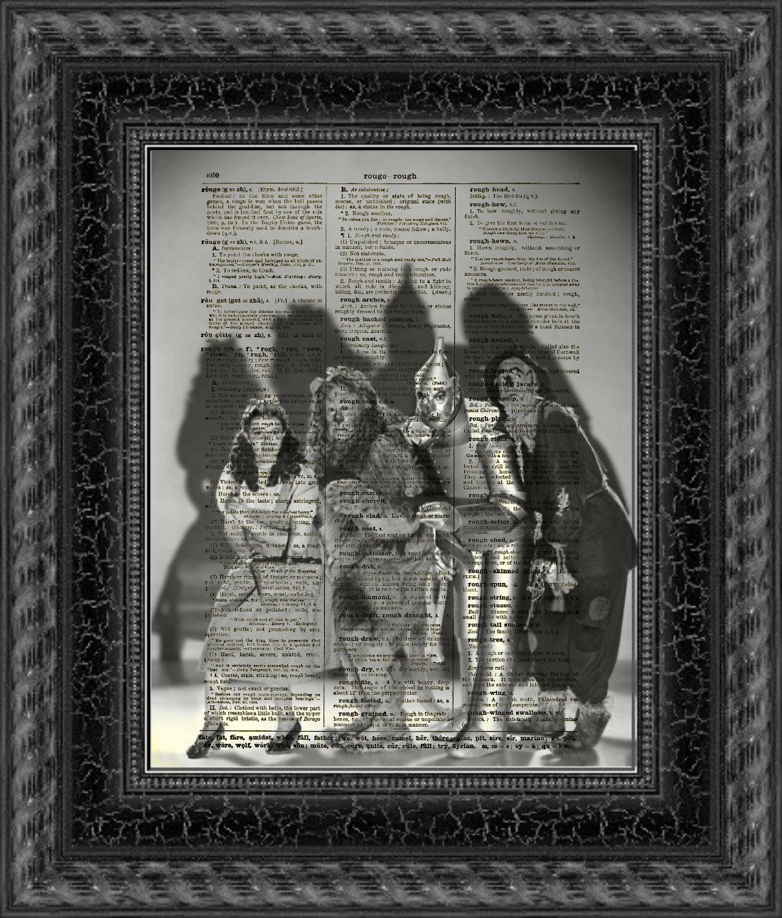 Dictionary Art Print, Wizard of Oz Print, Halloween Decor, Dorothy - Wizard Of Oz Halloween Decorations