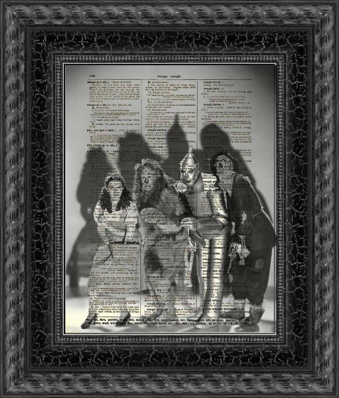 Dictionary Art Print, Wizard of Oz Print, Halloween Decor, Dorothy - Wizard Of Oz Halloween Decorations