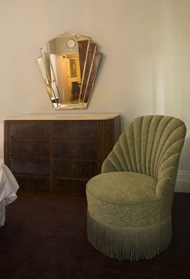 Art Deco chair mirror House Pinterest Scallops Fringes and