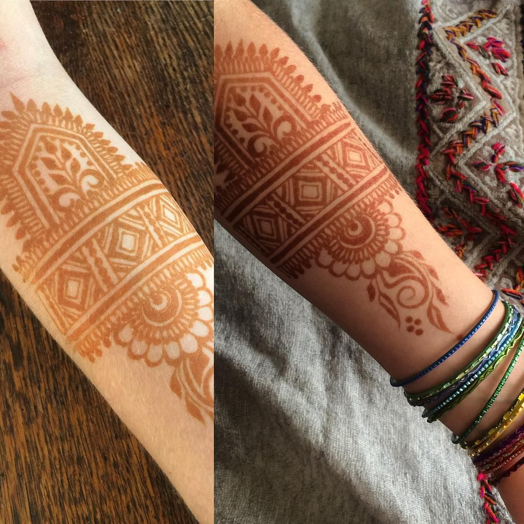 24 Henna Tattoos By Rachel Goldman You Must See: Fresh Stain, And 24 Hour Stain Result Of My Jamila Vs Raj