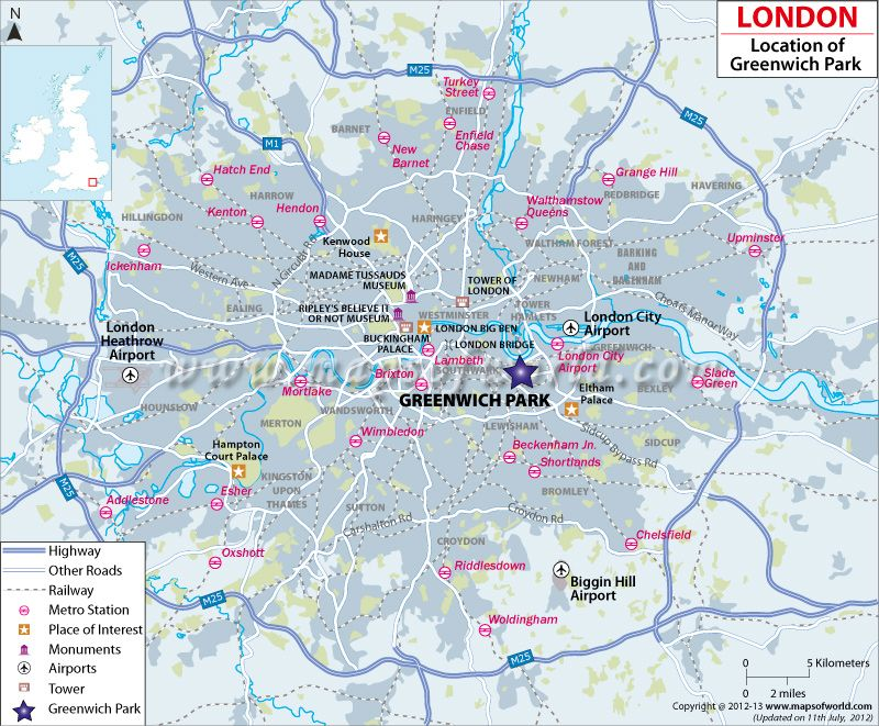 Location Map of Greenwich Park in London Olympics Updates
