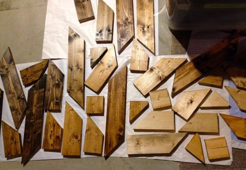 Diy wood planked quilt planked wall art wood plank