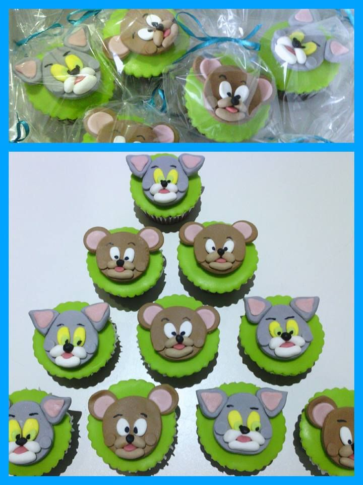 Tom Jerry cupcakes fav cakes Pinterest Cupcake Toms and