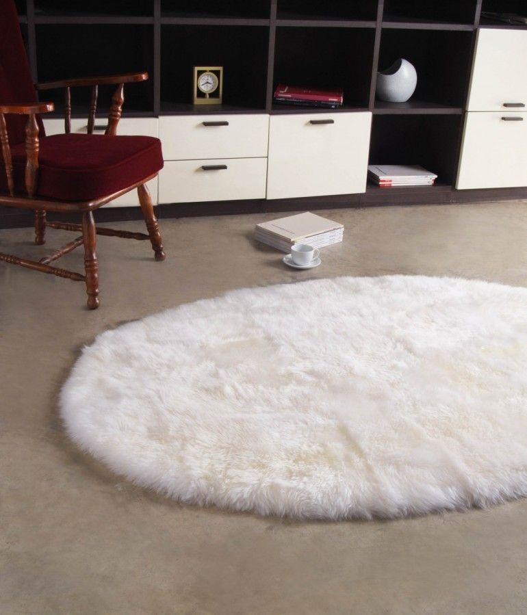 Oval Longwool Sheepskin Rug