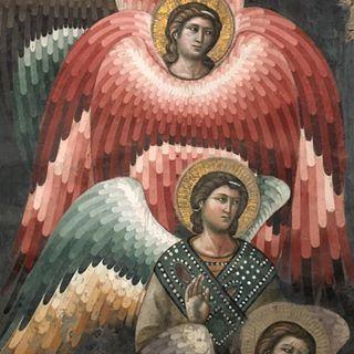 Detalle del Juicio Final de Pietro Cavallini en los frescos de Santa Cecilia in Trastévere