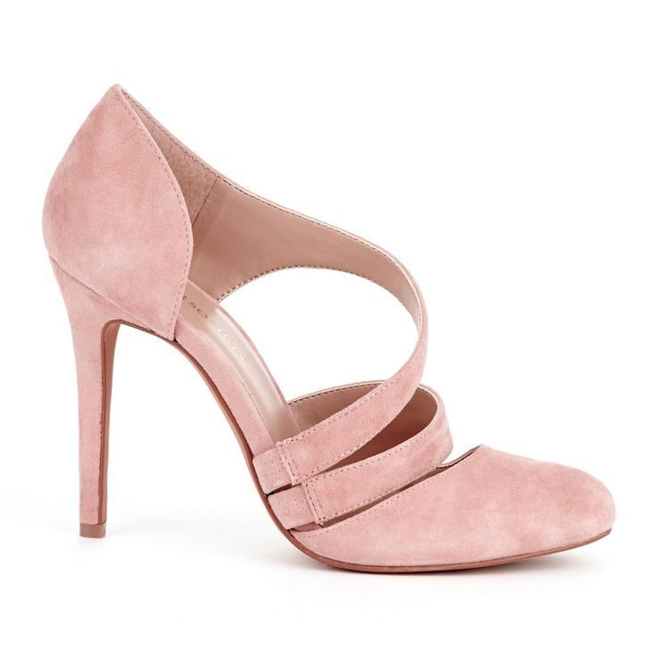 gorgeous blush / pale Pink suede heels