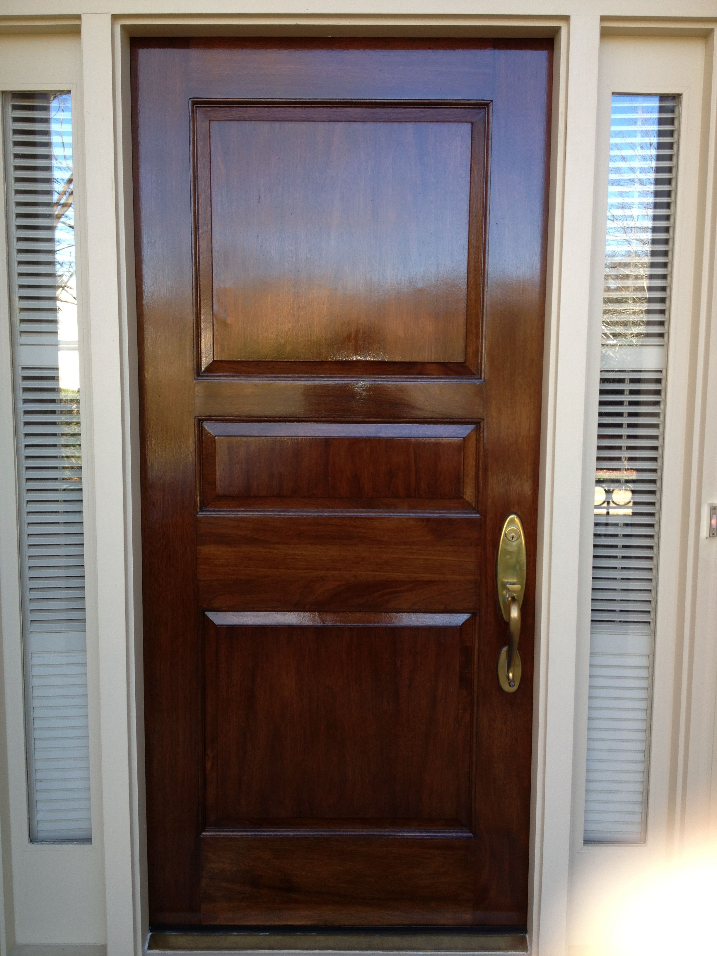 The Door Was Stripped Stained And Finished With Fine