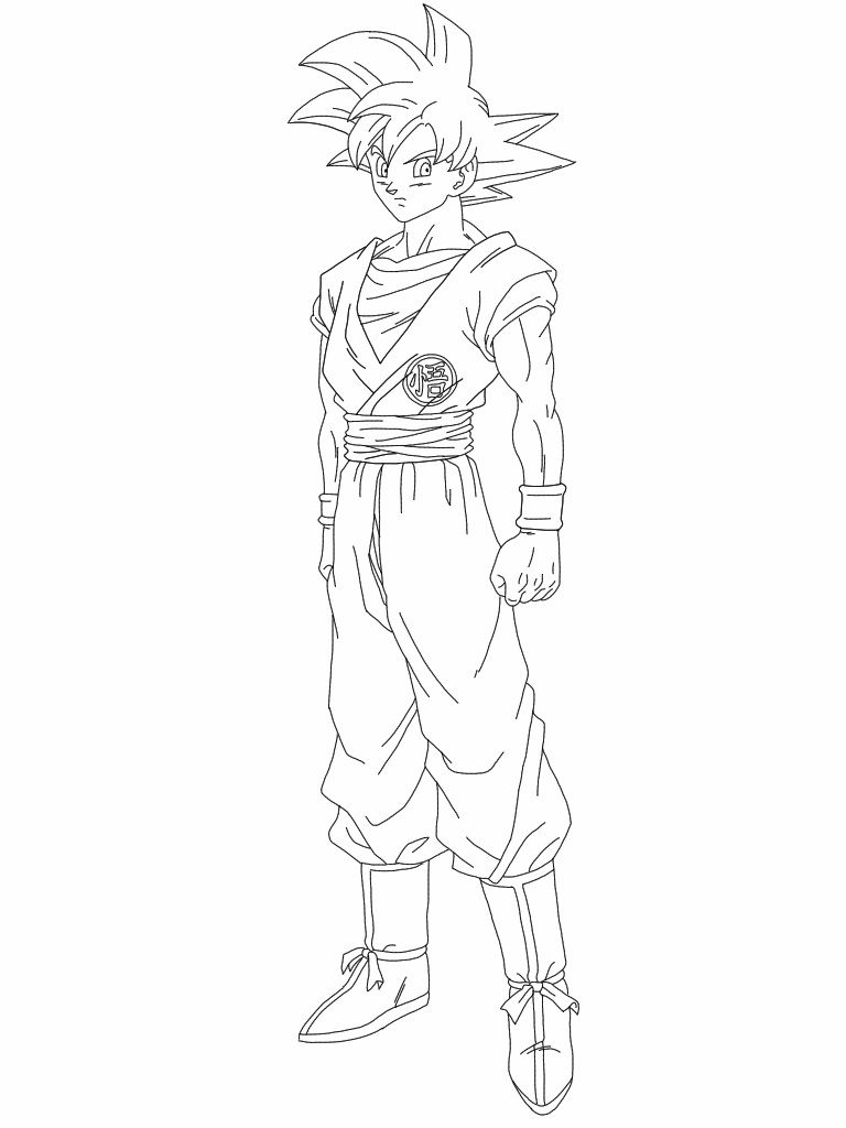 Super Saiyan Goku Coloring Pages Super Coloring Pages Monster Coloring Pages Cartoon Coloring Pages