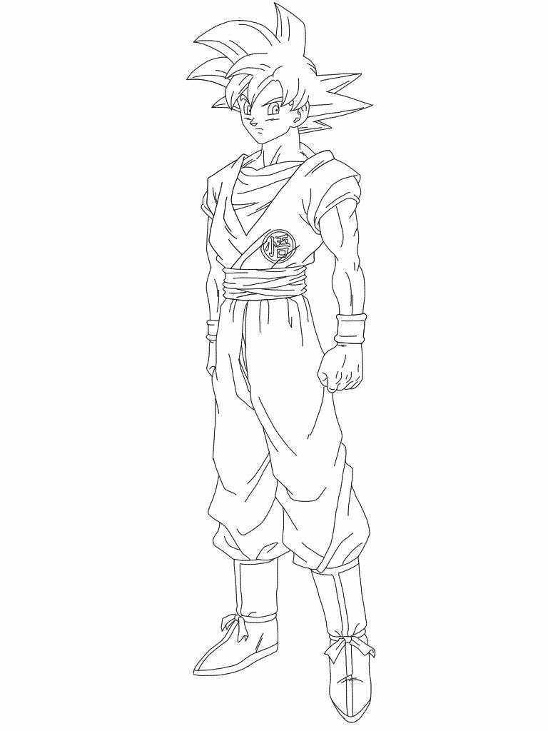 Coloring pages goku - Super Saiyan Goku Coloring Pages