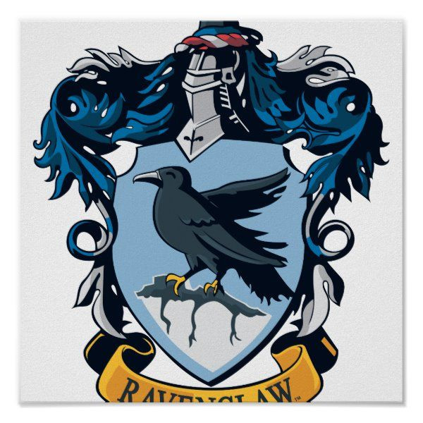 Harry Potter Gothic Ravenclaw Crest Poster Zazzle Com Harry Potter Stickers Ravenclaw Logo Harry Potter Wall