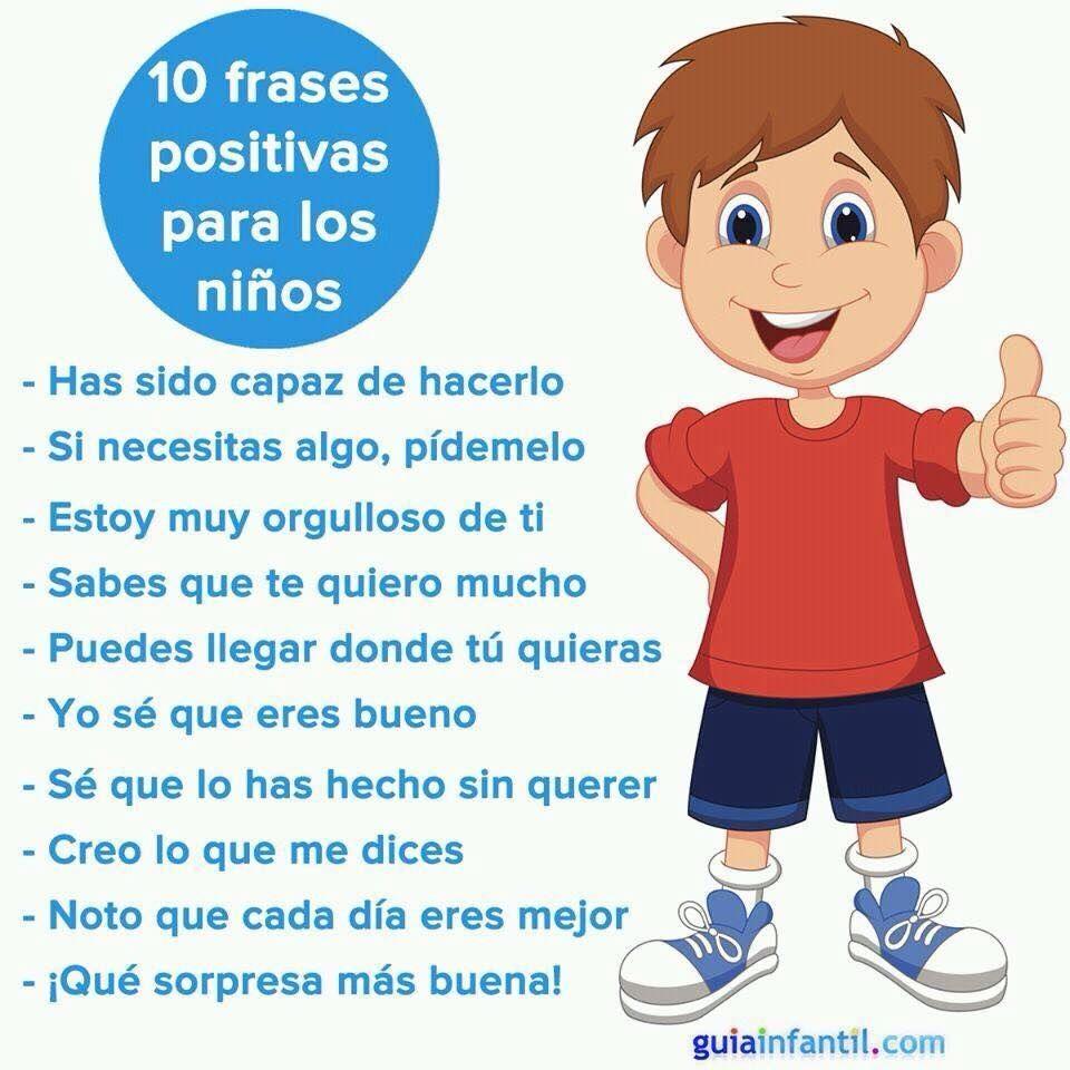 10 Frases Positivas Para Los Niños Frases Positivas