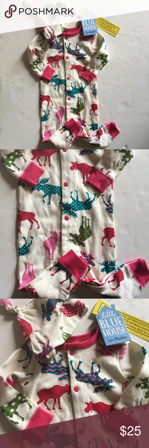 Hatley Moose Sleeper NWT Hatley, Hatley pajamas, Holiday
