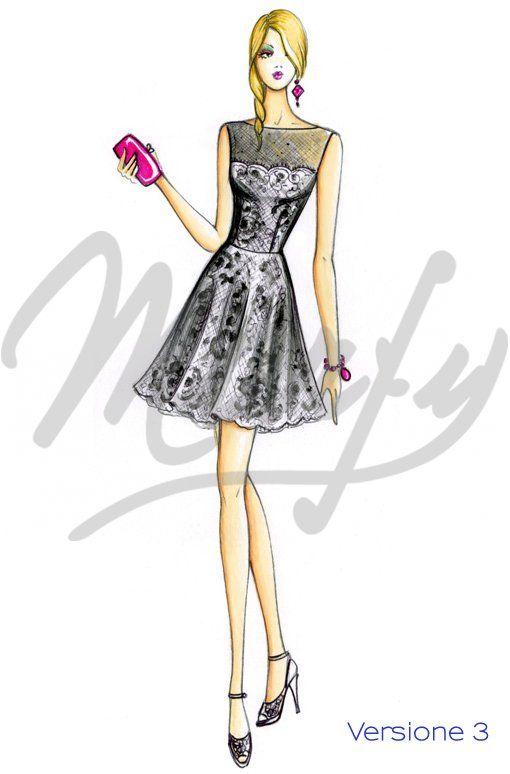 Patrón de costura Vestidos 3533 PDF | bocetos | Pinterest