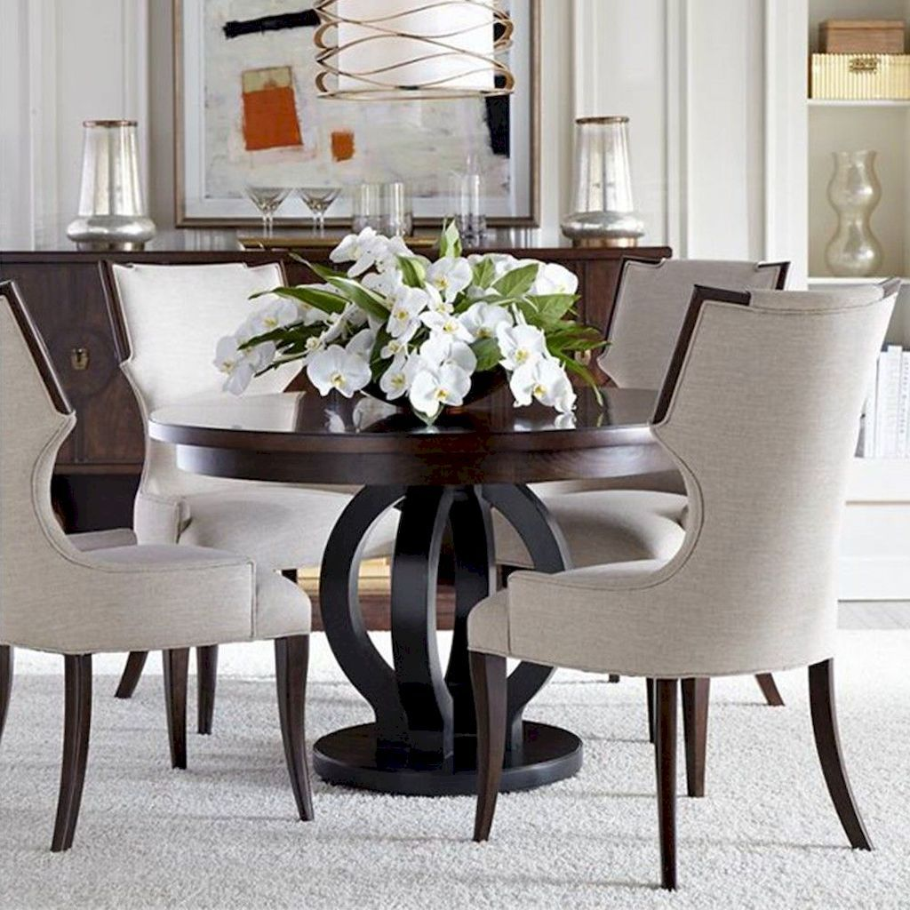 75 Amazing Small Dining Room Design Ideas Homixover Com Round Dining Room Table Round Wood Dining Table Round Pedestal Dining Table