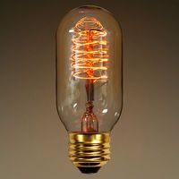 40 Watt - Vintage Antique Light Bulb - Radio Style - 4.125 in. Length - Spiral Filament - Multiple Supports - Clear