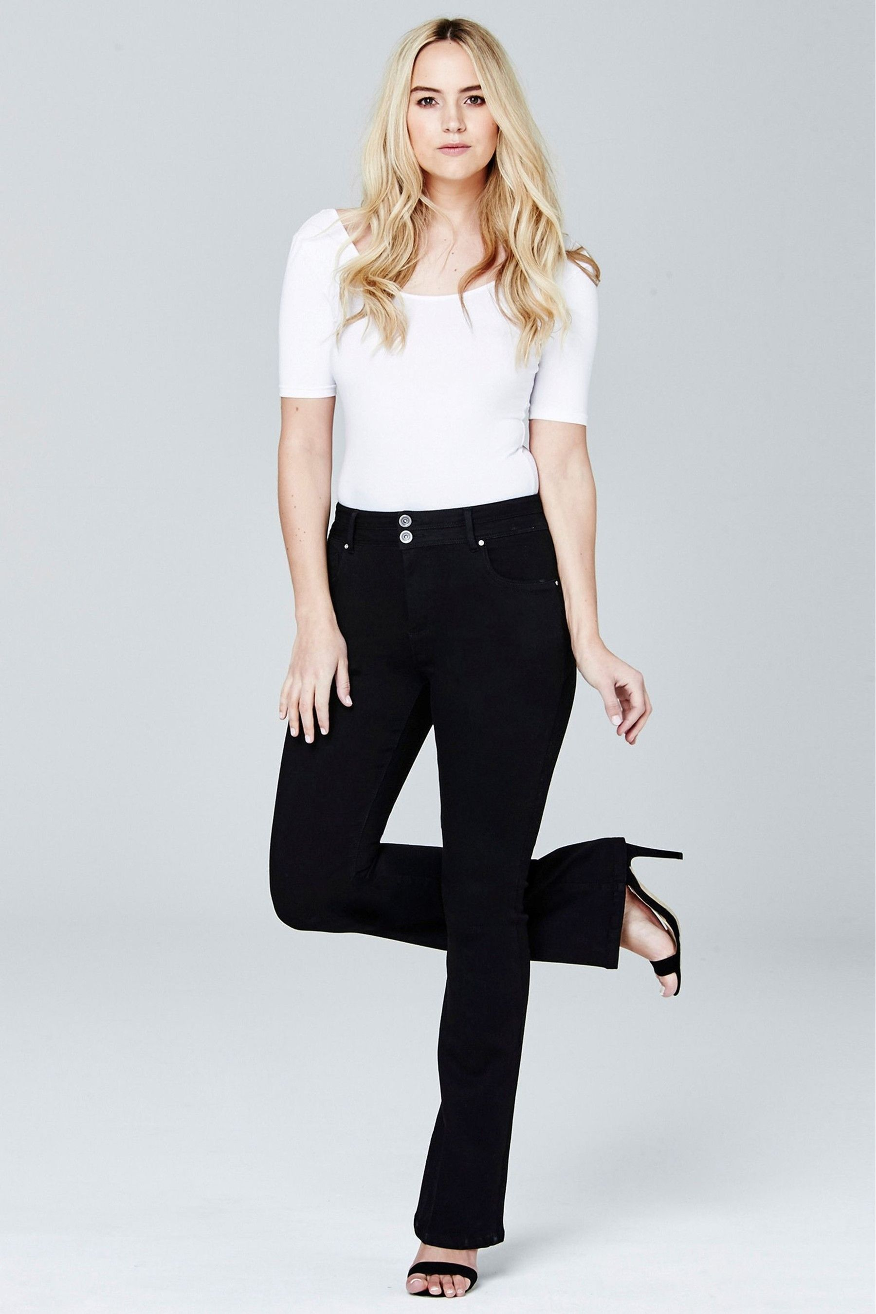 Simply Be Womens Premium Shape /& Sculpt High Waisted Bootcut Jeans