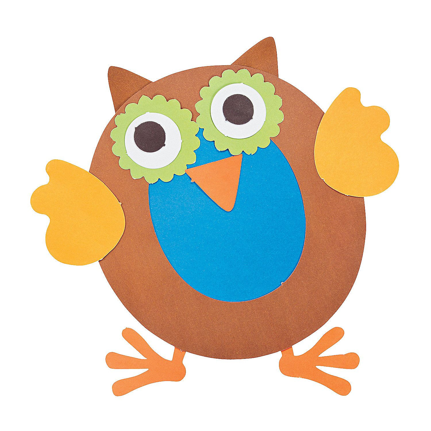 O is for owls letter o craft kit for Craft kits for preschoolers