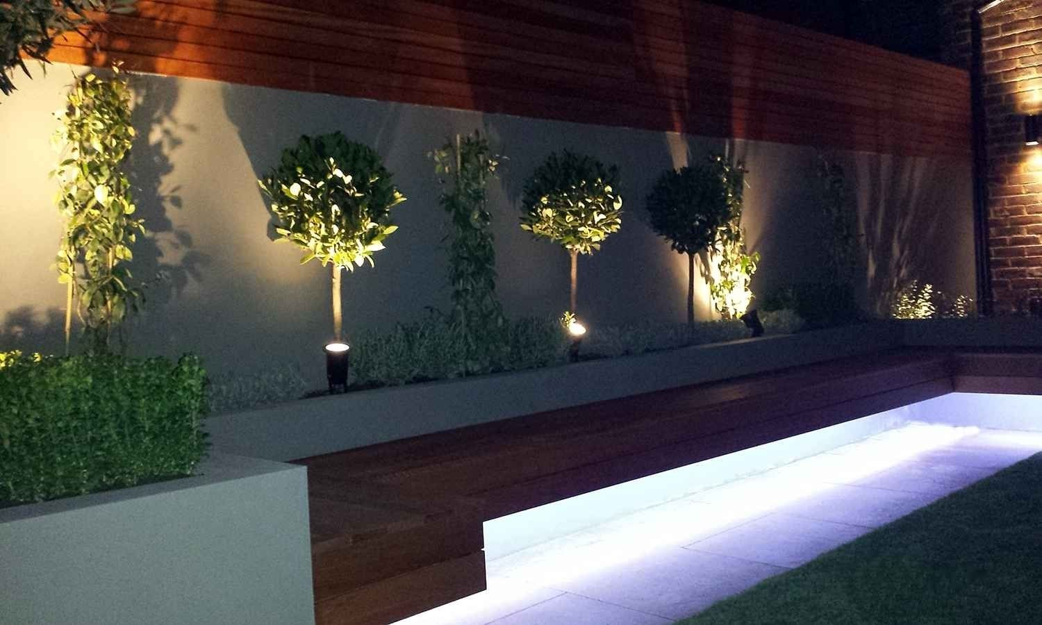 Garden Lighting Ideas Enhance It Night Beauty In 2020 With Images Modern Garden Lighting Modern Garden Modern Garden Design