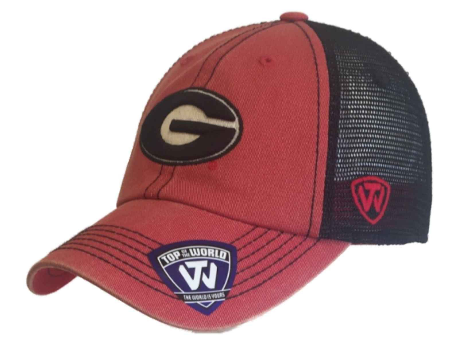 Georgia Bulldogs TOW Red Black Crossroads Mesh Adjustable Snapback Hat Cap 70ef415cb2d