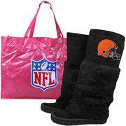 Cleveland Browns Womens Devotee Knee-High Boots - Black#Fanatics