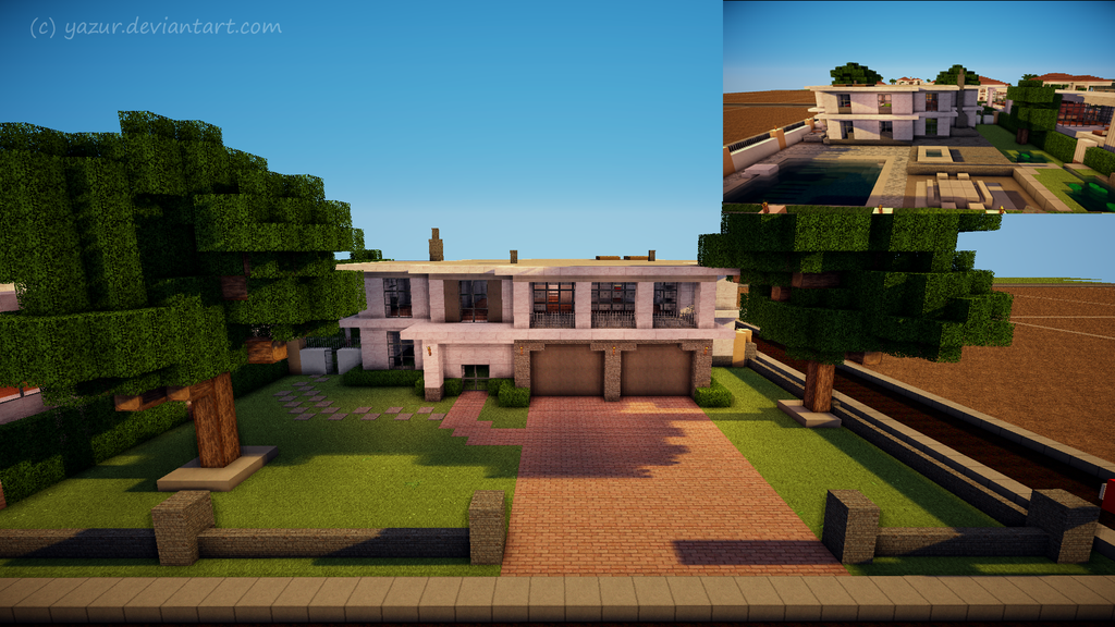 Minecraft Modern house by Yazurdeviantartcom on deviantART