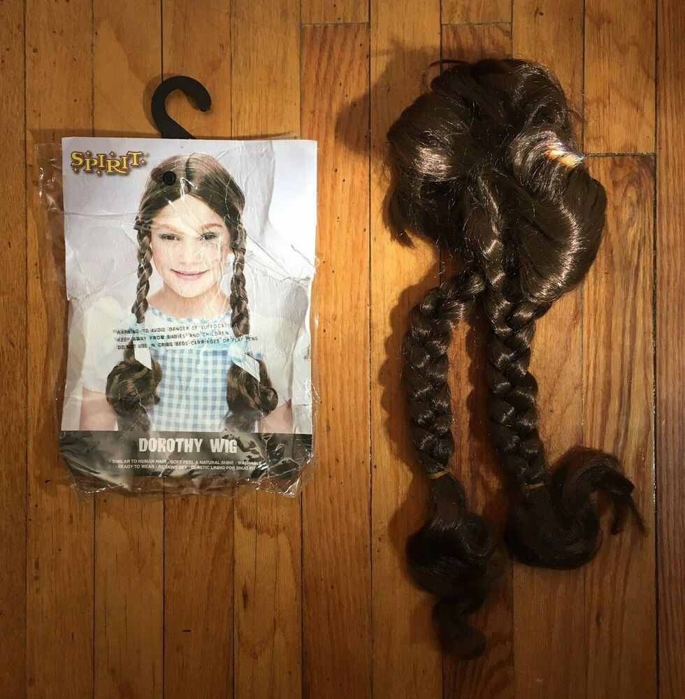 Dorothy Wizard Of Oz Kids Childrens Wig Brown Hair Braids Costume Pre Owned Unbranded Fullwig Childrens Wigs Dorothy Wizard Of Oz Wigs
