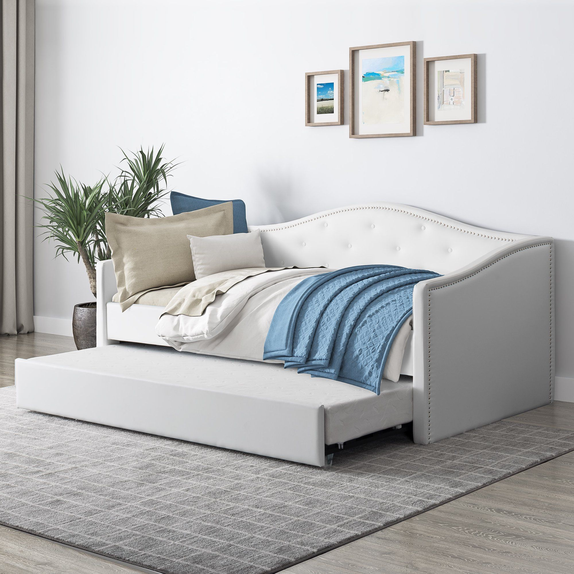 Pin By Niyyyah 2xx On Ii Home Vibe Ii In 2021 Daybed With Trundle Twin Daybed With Trundle Trundle Bed Daybed with trundle with mattress