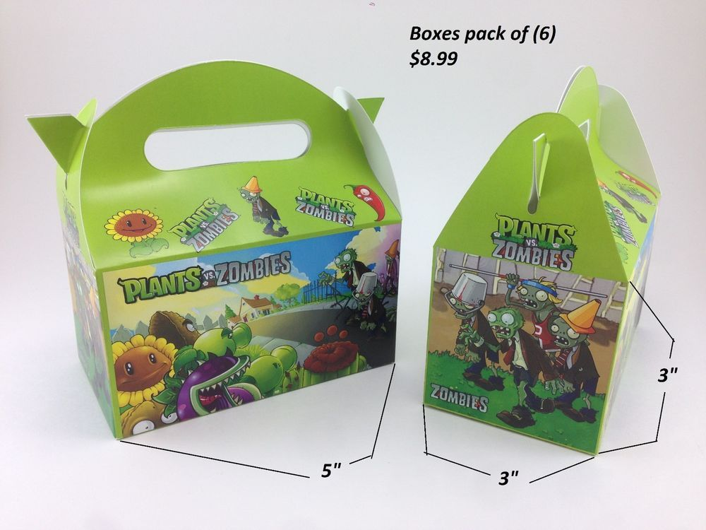 plants vs zombies happy birthday party decoration supplies treat box - Party Decoration Stores