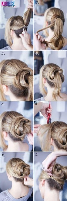 10 Hair Tutorials For Buns Hair Style Fryzur Wskazówki