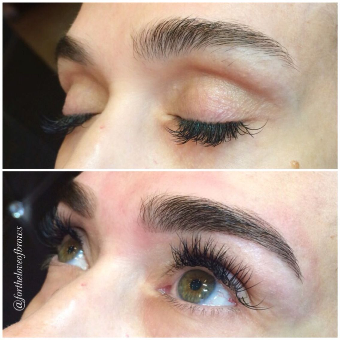 Even brunettes can benefit from brow tinting! Eyebrow art by ...