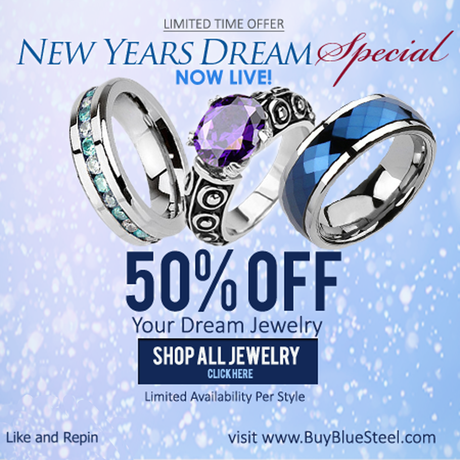 What's Your New Year's Dream? #BuyBlueSteel