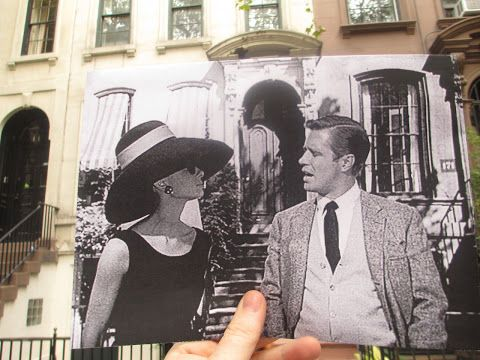 Audrey Hepburn outside her apartment on 71st Street, New York - Breakfast at Tiffany's