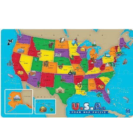 Educational Insights USA Foam Map Puzzle — QVC.com ... on usa with states and cities, usa region, usa national parks, usa climate, usa capitals, usa landmarks, usa ma, usa geography, usa puzzle, usa weather, usa food, usa major cities, usa buildings, usa mao, usa globe, usa mountain ranges, usa 13 colonies, usa and canada, usa rivers, usa outline,
