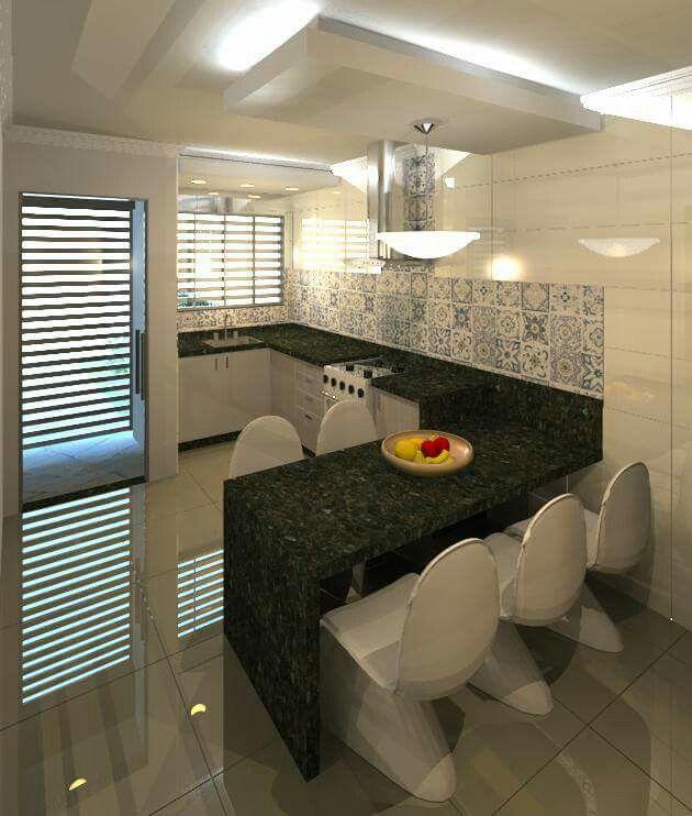 Cozinha com bancada de granito verde ubatuba cozinhas for Precio metro granito