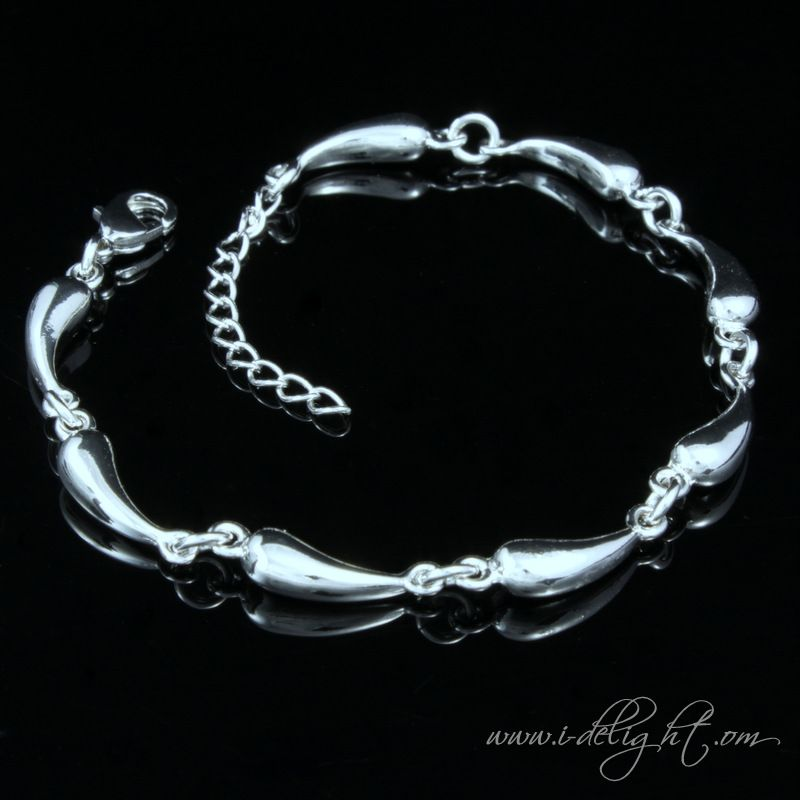 Alloy + 925 Sterling Silver + High Quality Polishing + Durable Colour Protector Lobster claw clasp 3.5cm extension chain  * Size: Adjustable length  * Measurements : 18cm  * Weight (g): 18 * ATBR016-1 * www.i-delight.com