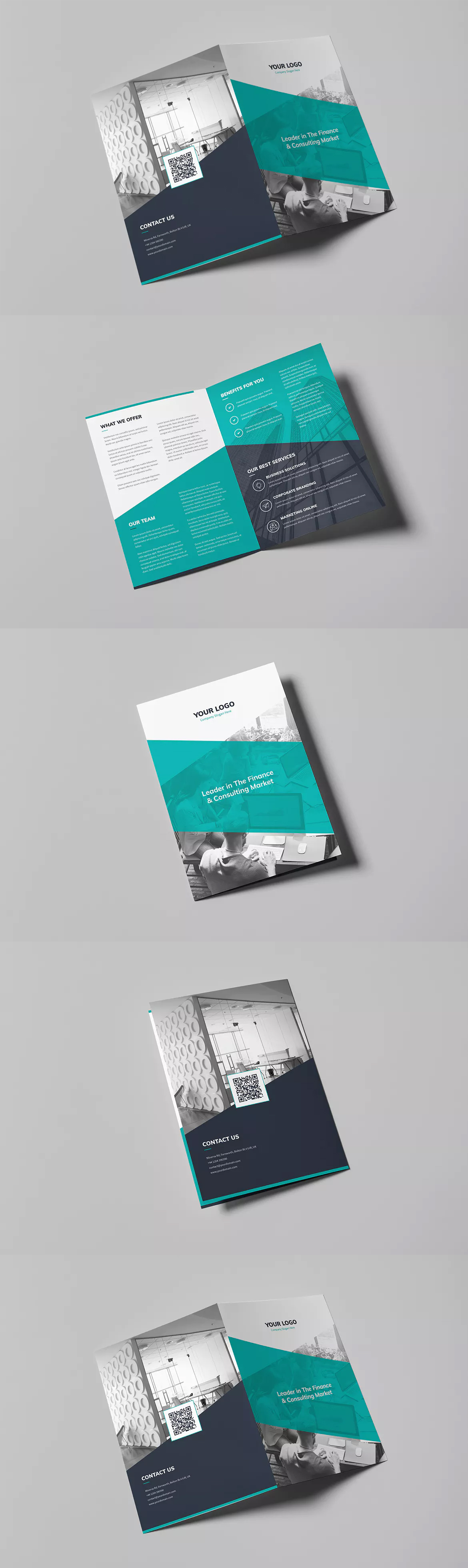 corporate bi fold brochure template psd a4 and us letter size