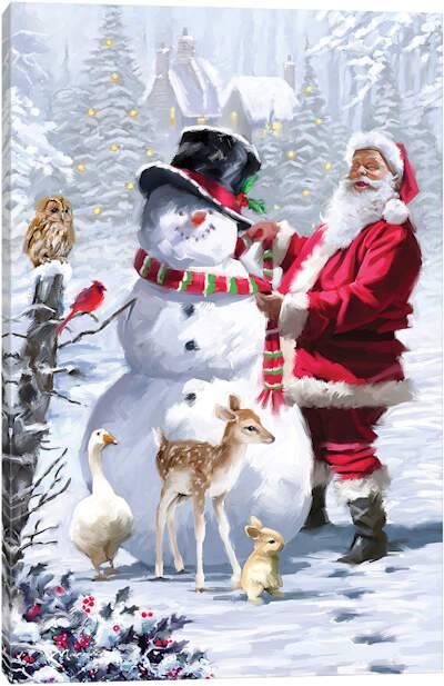 snowmen canvas wall art icanvas canvas art prints on icanvas wall art id=52848