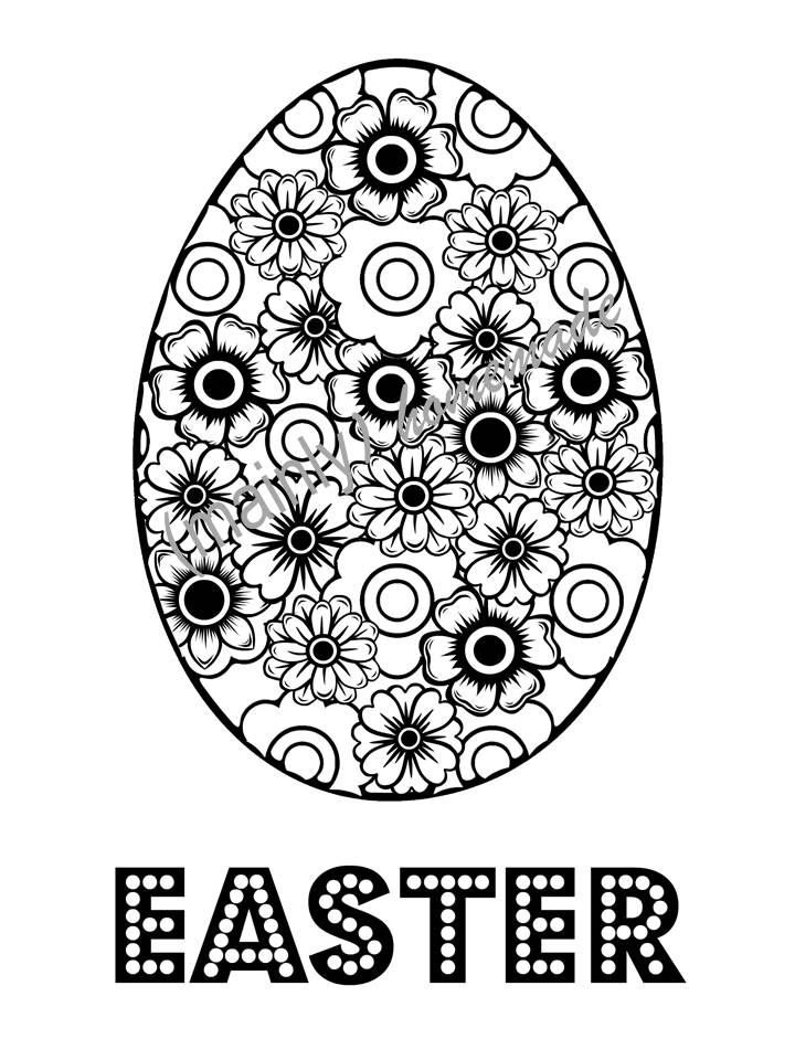 Fun Easter Egg Coloring Page | Kids colouring, Easter and Easter ...