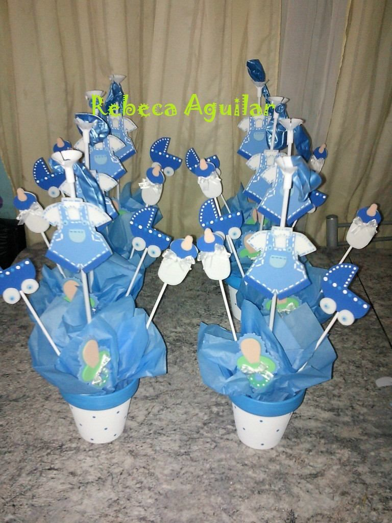 Centros de mesa para baby shower de varon imagui liiza for Mesa baby shower nino
