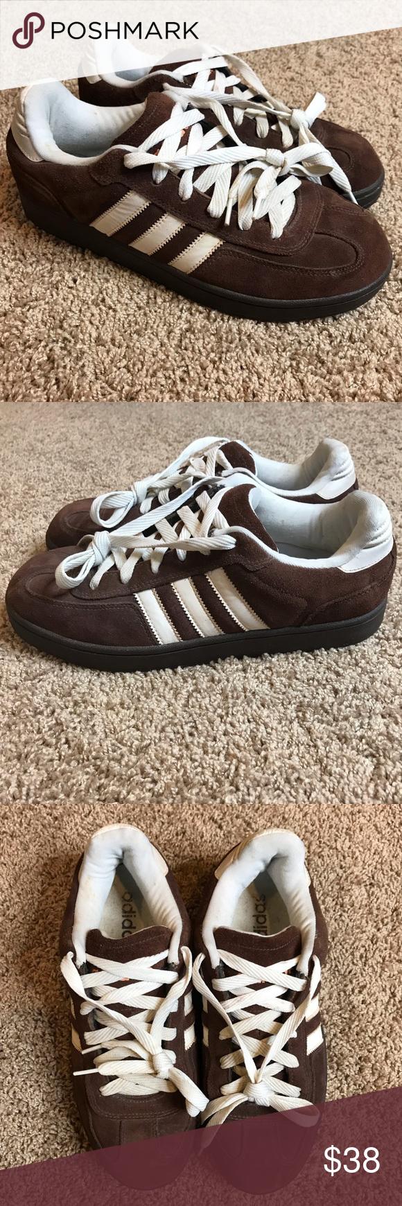 adidas Shoes Men Size 12 Brown Suede Lace Up Excellent condition ...