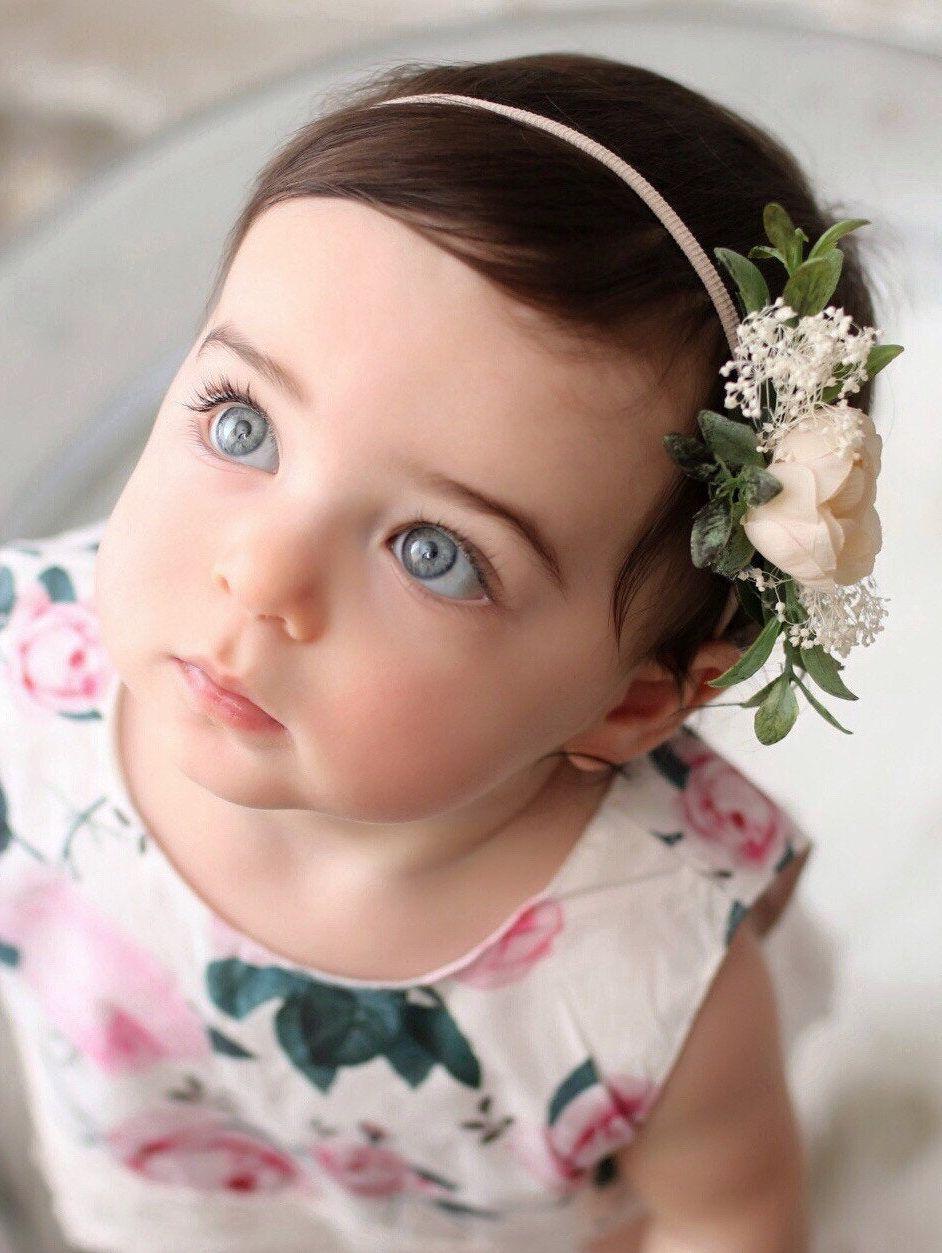 Sequin Baby Bow Headband Small Flower Headband Baby Photo Prop