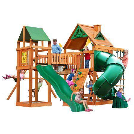 Gorilla Playsets Catalina Cedar Swing Set With Natural Cedar Posts