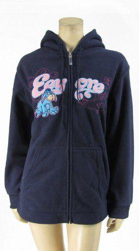 da8fa379911 Save  24.99 on Disney Eeyore Hoodie Zip Up Jacket Fleece Plus Size Navy  Blue  only  25.00 + Free Shipping