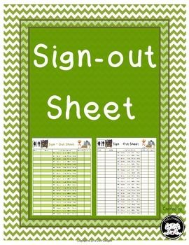 Student Sign Out Sheet  Classroom Management And Students