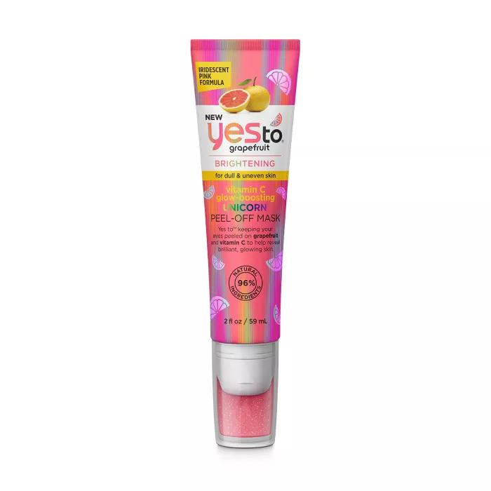 Yes To Grapefruit Vitamin C Glow Boosting Unicorn Peel Off Face Mask In 2020 Yes To Grapefruit Grapefruit Vitamin C Peel Off Mask